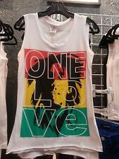 Bob Marley One Love Tank Top white cotton Small 30 inch chest