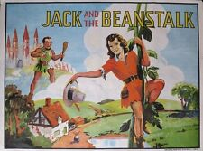 VINTAGE c. 1930 PANTOMIME JACK AND THE BEANSTALK POSTER TAYLORS LITHOGRAPH