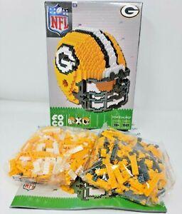NFL Green Bay Packers Mini BRXLZ Helmet Building Blocks OPEN BOX 1327 Pieces