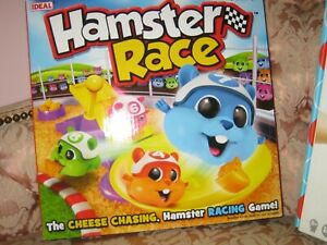 IDEAL - HAMSTER RACE THE CHEESE CHASING, HAMSTER RACING GAME - NEW