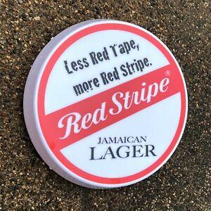 RED STRIPE Light up LED bar wall sign logo Pub Beer Lager ale man cave garage