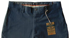 Men's DOCKERS Blue Gray Twill Cotton Chino Pants 36x30 Classic Fit NWT NEW