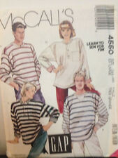 "McCalls 4550 - Misses/Men/Teen Boys ""Gap"" KNIT Tops - Sizes 44-46"