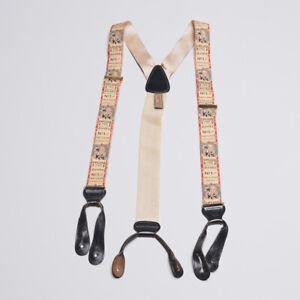 Trafalgar Vintage Suspenders with Horse Track Racing Theme