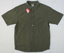 Nwot The North Face M Men's Hudson Reborn Shirt S/S in Cargo Green Plaid