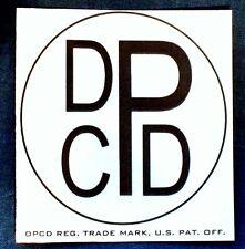 DPCD ™ LOGO OUTDOOR VINYL DECAL 1930s 1940s VINTAGE WINDOW BUMPER STICKER ◆REPOP