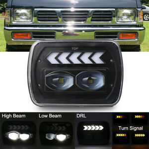 "120W 5x7"" 7x6"" LED Hi-Lo DRL H6054 Headlight For Toyota Nissan Pickup Hardbody"