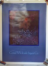 Vintage Central Wholesale Liquor Company Wine Poster #30 Advertising