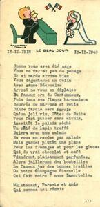 Menu ancien anniversaire de mariage noces d'argent 1918 - 1943 Raymonde Hacker