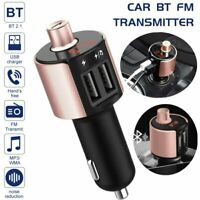 Car Wireless Bluetooth FM Transmitter MP3 Radio Adapter Handsfree USB Charger