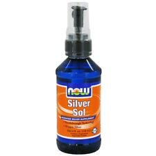 NOW Foods Silver Sol Patented Silver Supplement 10 Ppm, 4 Ounces