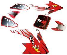 DIRT PIT BIKE RED FLAMES DECAL STICKERS FENDER HONDA XR50 CRF50 90CC SSR SDG