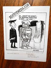 RON COBB-ART PRINT-CARTOON-UNDERGROUND COMICS-COMIX-COMIC ART-BLACK PANTHERS-FBI