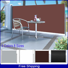 Retractable Deck Side Awning Screen Fence Patio Garden Privacy Divider Pro