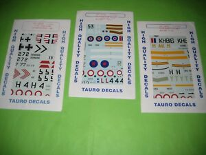 P-38J / P-51D (AMI) DECALS SETS BY TAUROMODEL 1/48 SCALE - KOMBO SET
