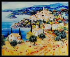 """""""Dreaming Provence"""" by Duaiv  (Framed Fine Art Mixed Media on Canvas)"""