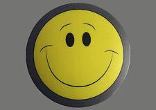Mauspad Mousepad gelber Smiley Smilies lachend Rund 20 cm mit grauem Rand neu