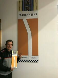 "ISLE OF MAN `TT` CORNER MCGUINNESS`S SIGN TO SCALE...""WORLDWIDE POSTAGE"""