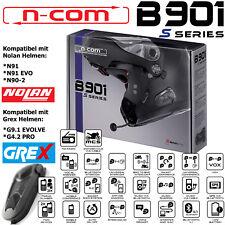 N-COM Headset B901 S für Helme Nolan N91/ N90-2 und Grex G9.1 EVOLVE / G4.2 PRO