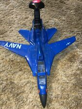 Vintage Navy Fighter Jet 1 . Toy Noise Action Does Not Work. Nice Model.