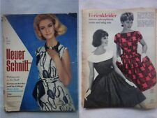 Vintage 60s German 1963 Neue Schnitt New Cut German Sewing Patterns Magazine