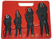4 Piece Mole Grip Locking Pliers Set
