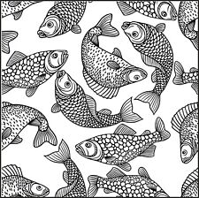 Antecedentes-Wallpaper-Fish-acuática Desmontado sello claro aprox 60x60mm