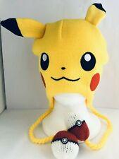 PIKACHU Beanie Ears Pokemon Go, Knit Hat Head-wear w/ Pokeballs Lootcrate