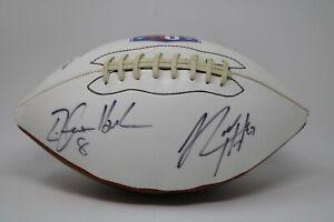 Rodney Hampton David Clowney Tim Hasselbeck Triple Autograph Signed Football HTF