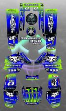 Yamaha Banshee 350 full graphics kit sticker decals