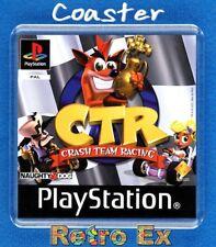 crash bandicoot CTR playstation psx retro gaming cover acrylic COASTER