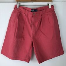 Polo By Ralph Lauren Shorts Casual Walking Tyler Cotton Size 34 Pleated Rose