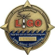 Long Island Geocoin, 2006 Bronze finish, Activated