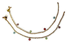 Jwellmart Indian Bollywood Ethnic Gold Polish CZ Anklets Women Free Shipping