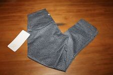 NEW Lululemon Wunder Under Crop roll down II Full on Luon  4 tights DSSX Gray