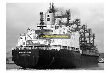 mc2753 - Elder Dempster Colours Cargo Ship - Myrmidon , built 1980 - photo 6x4
