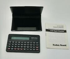 Radio Shack Lcd Spell Checker, Cat. No. 63-656, Still Works, Free Ship