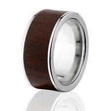 Exotic Hard Wood Wedding Band: Brazilian Ebony in Titanium Ring, Wood rings