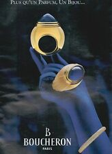▬► PUBLICITE ADVERTISING AD Bijou BOUCHERON 1998