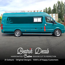 VW Crafter Side Stripes Volkswagen Crafter MWB TDI CDR Graphic Decal - All Years