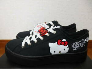 New ROXY Sneakers Hello Kitty Collaboration 23.0cm US6 Black Sanrio Woman