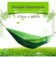 Double Person Parachute Nylon Hammock Outdoor Camping Travel Swing Hanging Bed