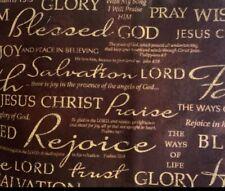 Religious Christian Faith Belief Cotton fabric Half yard SALE