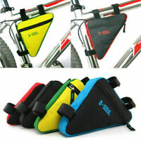 Triangle Bicycle Frame Front Bag Cycling Bike Phone Pouch Holder Saddle Panniers