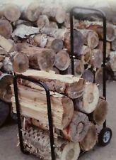 100KG FIREWOOD LOG CART TROLLEY WITH RAIN COVER for Log Splitter-Wood Log Saw