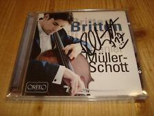 DANIEL MÜLLER-SCHOTT Britten The Suites for Cello Solo ORFEO CD Signed Signiert