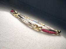 Gorgeous Estate 14K White Gold Ruby Diamond X Tennis Bracelet