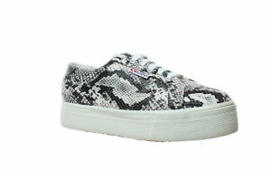 Superga Womens 2750 Fancotw Black Fashion Sneaker EUR 41 (1476526)