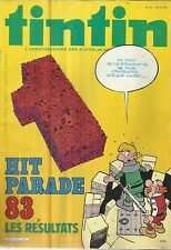 TINTIN L'HEBDOMADAIRE DES SUPER-JEUNES DE 7 A 77 ANS 5/9/83