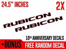 (2x) Jeep RUBICON Anniversary Hood Vinyl Decals Stickers TJ JK CJ YJ Wrangler